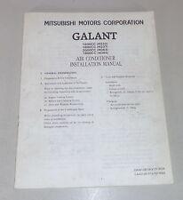 Owner's Manual Mitsubishi Galant E 50 Air Conditioner Installation Manual