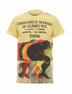 UCI Rainbow Story T-Shirt in Yellow - By Santini