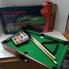 Just For Fun Tabletop Billiards Pool Complete In Box