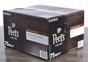 Peets Coffee Major Dickasons Blend Dark Roast Arabica 75 K-Cup Pods KEURIG HOT