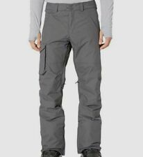NEW $340 Burton Men's Gray Waterproof Cargo Outerwear Ski Snowboard Pants Size M