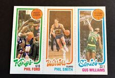 1980 Topps Basketball Phil Ford Signed Card