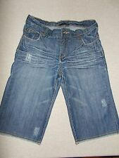 DKNY Girls Size 14 Capri or Shorts Blue Jean Style Distressed 5 Pocket Style