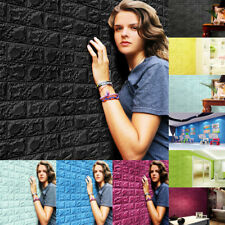 3D PE Foam DIY Brick Stone Embossed Wall Paper Wall Stickers Wall Decor 60*60cm