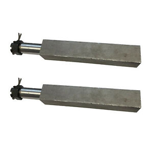 """Trailer Axle Set 2 x Square Stub Axles to suit 1"""" Bearing 750kg"""