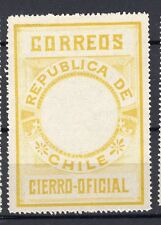 CHILE 1900 Seal MLH no official printing perforated lemon-yellow