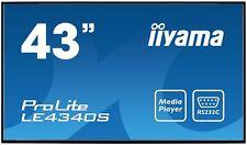 "iiyama ProLite LE4340S, Public Display, 108 cm (43""), schwarz Orginal Verpackt"