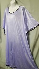 "Purple w/Brown Nightgown  Long Sexy Comfy  Size  6X   80"" BUST"