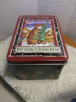 "San Francisco Music Box Company Teddy Bear Tin W/ Ornament ""Beary Best Dad""."