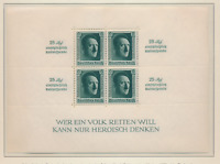 Germany Stamp Scott #B106, Mint Lightly Hinged, Stamps NH, Souvenir Sheet