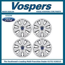 "Genuine Ford Various Models Set Of Four 16"" Wheel Trims / Hub Caps 1704582"