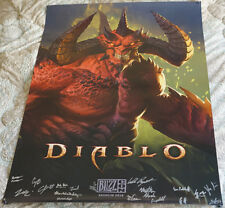 Blizzcon 2018 Official Diablo 3 III Signed Poster