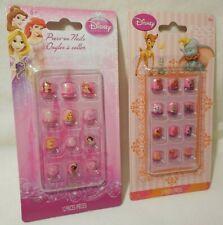 2 Packages SETS Disney Princess & Disney Press-On Finger Nails Girl LOT NEW Gift