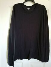 Arizona Men's Waffle Long Sleeve Crew Neck Pullover Black XXLarge NWOT