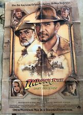 1989 Indiana Jones And The Last Crusade Movie Poster Harrison Ford