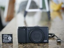 RICOH GR 16.2MP Camera Black AF 18.3mm F2.8 - Low Shutter - 318 Actutations