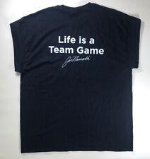 Life is a Team Game Joe Namath Foundation T-Shirt Size XL New