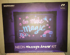 NEW LED Neon Glass Message Board Kit 28 Light Modes w/Remote MERKURY INNOVATIONS