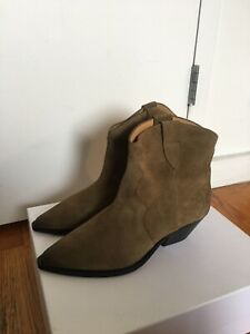 Isabel Marant Dewina Boot Taupe Suede Size 40, New In Box