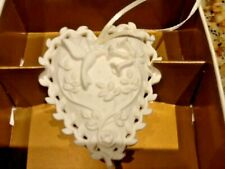 "Margaret Furlong Love Song Hummingbird 2.5"" Heart Shaped Christmas Ornament Nib"