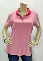 Vineyard Vines Large Pink Golf Pique Polo Shirt Short Sleeve Top Two Tone New