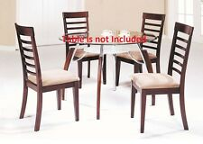 Martini Modern Cushion Seat High back Dining Chairs Brown Cherry Finish Chair