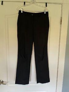 Nike Golf Women's Black Flat Front Golf Pants Size 6