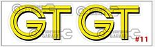 BUMPER STICKERS for ROTARY  RX2 RX3 RX4 RX7 RX8 R100 GT RE - GT #11