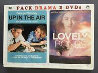 2 DVDs UP IN THE AIR + LOVELY BONES George Clooney Vera Farmiga Saoirse Ronan