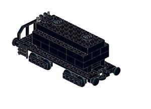 Lego MOC Tank wagon - Model PDF Instructions Manual