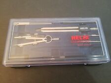 HELIX 7 PIECE DRAWING DRAFT SET WITH CASE MADE IN ITALY MISSING ONE PIECE EXCELL