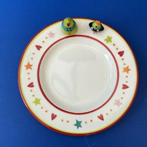 Marks and Spencer 3D Christmas Tree/Robin Ceramic Children's Christmas Plate.