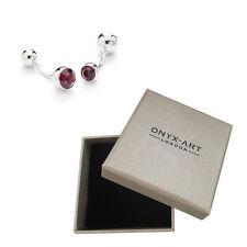 Mens Amethyst Crystal Fashion Cufflinks & Gift Box By Onyx Art