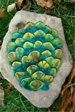 Blue Green Peacock Plumage Feather Pad     US Seller