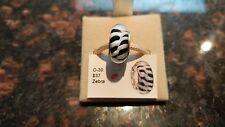 Authentic Chamilia Zebra Murano Glass Charm