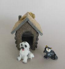 Krippenzubehör Hundehütte m. Hund, Katze für Krippenfiguren Größe 11-12 cm Nr. 5