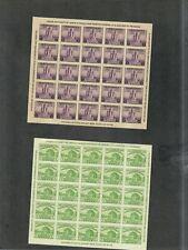 Us Sc#730 + 731 M/H Ngai Farley Souvenir Sheets, Cv. $40
