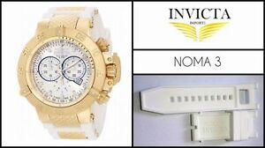 New Silicone Rubber Watch Band Strap White Subaqua Noma III - Noma 3 - 16872