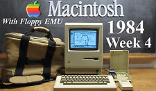   OUTSTANDING Week 4 1984 Apple Macintosh Mac 128k M0001 with  Floppy EMU!!!