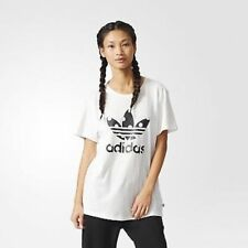 adidas Originals Womens Big Logo Relaxed Fit Polka Dot Trefoil Tee | Ab2448 10