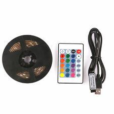 1m to 5M light RGB Colour 5050 USB LED Strip Light Kit TV Backlight + Remote