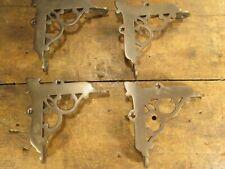 Unusual Antique cast solid brass corner brackets or feet? SS