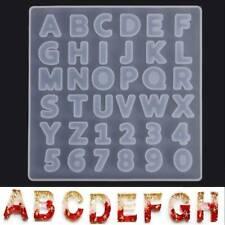 DIY Letter Alphabet Number Mold Silicone Molds Resin Casting Making Crafts US