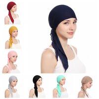 Women Turban Muslim Hijab Cancer Chemo Cap Beanie Headwear Hat Head Scarf NEW