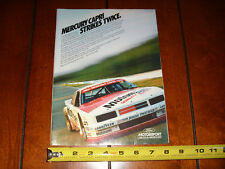 1984 MERCURY CAPRI FORD MOTORSPORT ROUSH MOTORCRAFT - ORIGINAL AD