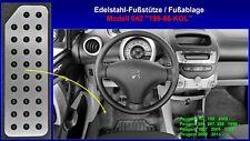 Fußstütze Fußablage Pedal Peugeot 107, 108, 206, 207, 208, 1007, 2008 Edelstahl
