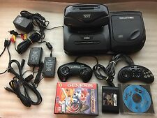 Sega CD Model 2 + 32X + Genesis - All Hookups - Tested/Works great! + Games