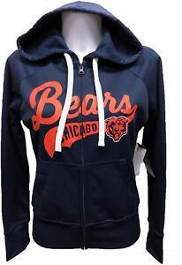 G-III 4her Chicago Bears Women's Game Day Full Zip Hoody Sweatshirt - Navy