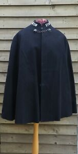1960s Vintage - Cornwall Police Officers Uniform Cape - Lions Head Chain Cornish