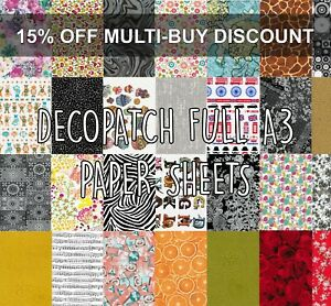Decopatch Paper Decoupage Full A3 Sheets 100+ Designs with multibuy discount
